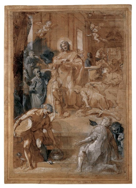 Study for 'The Institution of the Eucharist'