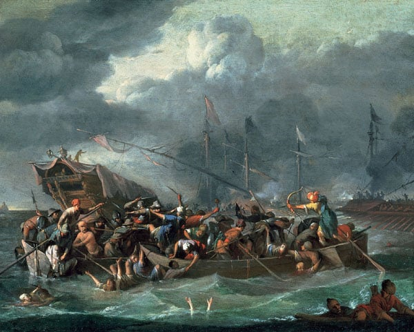 A Sea Battle between Christians and Turks