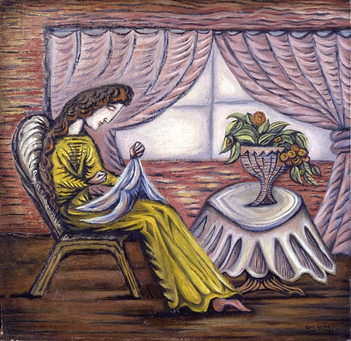 Artist's Wife Sewing