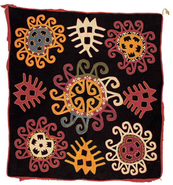 Collection of embroidered textiles