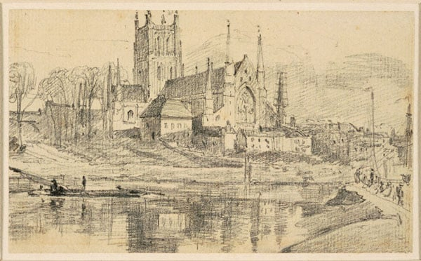 Worcester Cathedral from the River