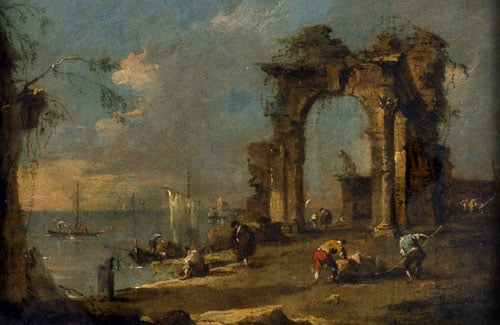 Coast Scene with Ruined Archway