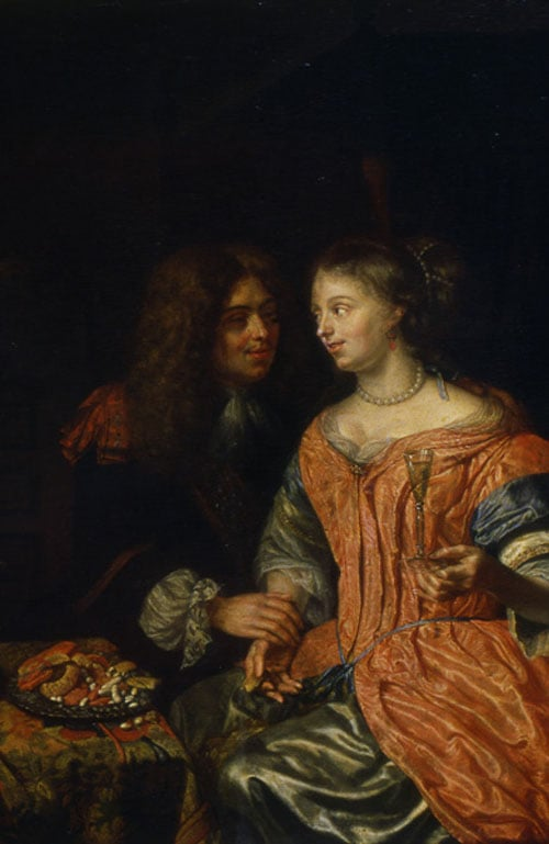 Man and Woman with a Wine Glass