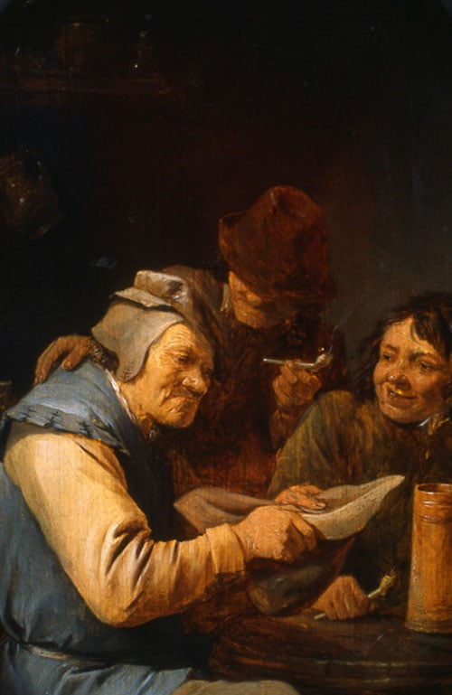 Hustle Cup & Exterior of an Inn - Peasants Drinking