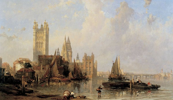The Houses of Parliament from Millbank