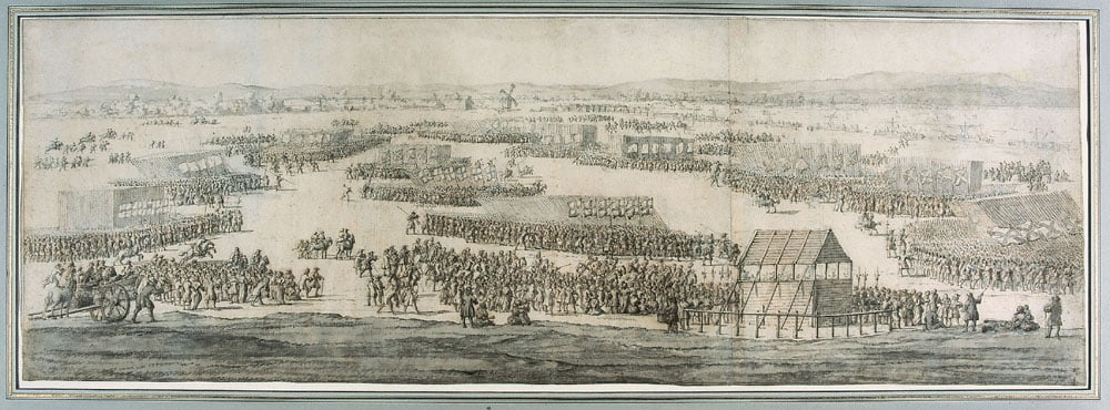 The Grand Review of the Army on Hounslow Heath