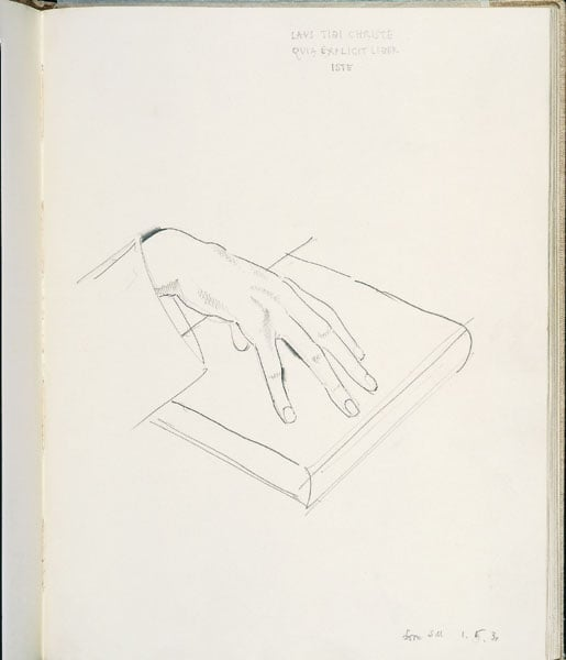 Sketchbook - 'Drawings of B.W. 1928-1930 and S.M.'s Hands'