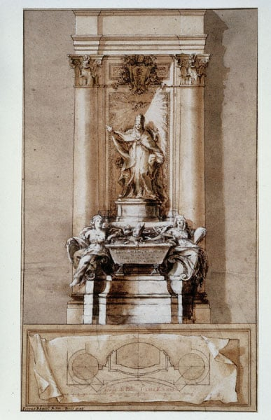 Design for a monument to Pope Clement XI