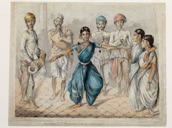 Eight drawings by British artists in India