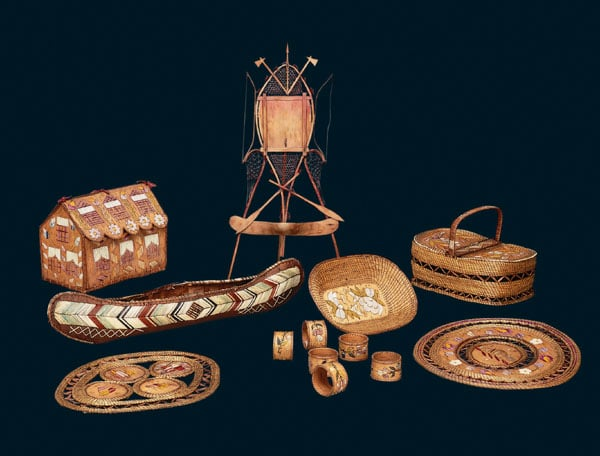 Collection of ethnographic items