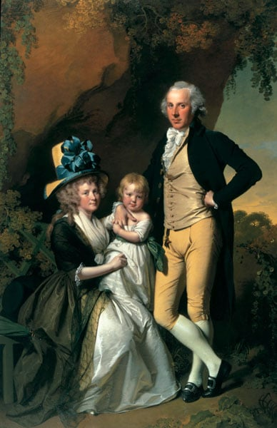 Portrait of Richard Arkwright Junior with his Wife Mary and Daughter Anne