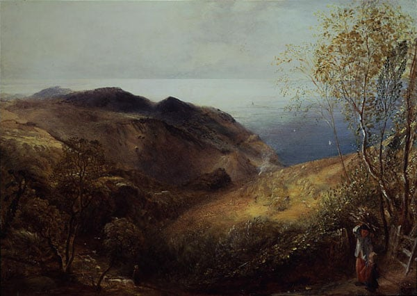 Autumn Landscape with a View to the Sea