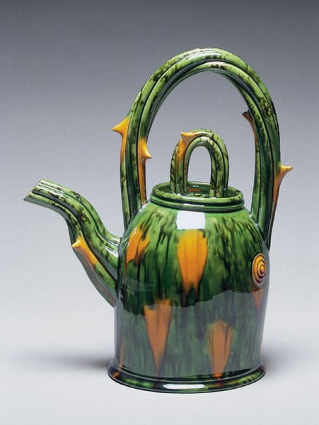 Teapot with thorns