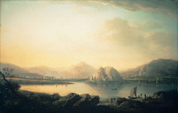Dumbarton Castle and Town with Ben Lomond