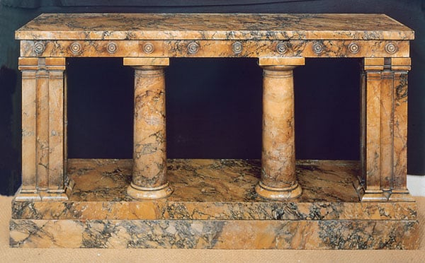 Siena marble console table