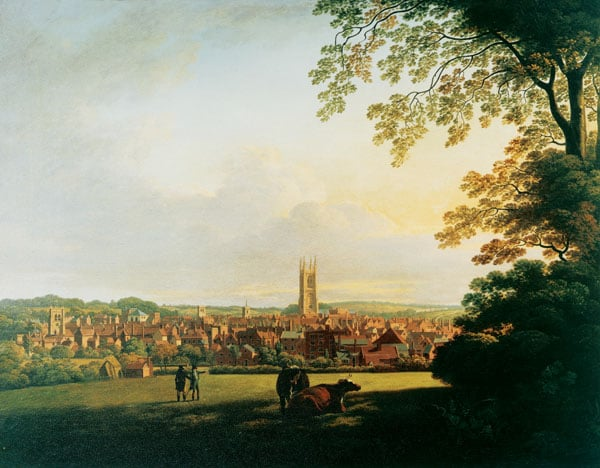 Derby from a Field adjoining Abbey Barns