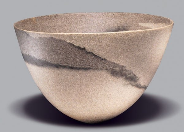Sand-grained bowl