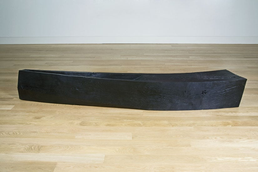Curved bench with trough
