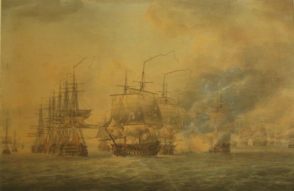 The British Fleet seizing the Anchorage at Basseterre, St. Kitts