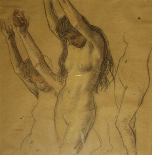 Three Studies of a Young Female Nude