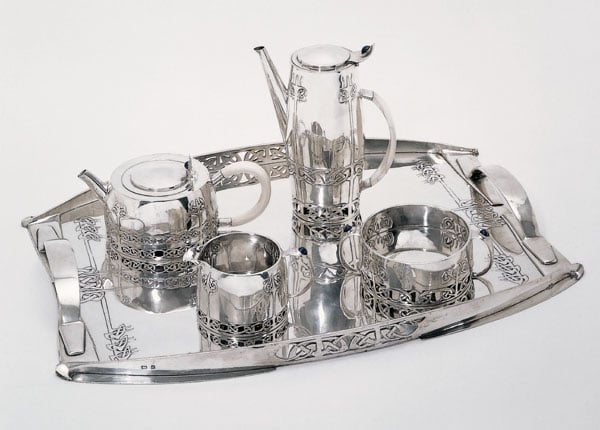 Tea and coffee service with tray