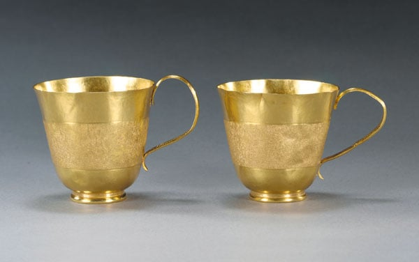 Palmerston gold chocolate cups