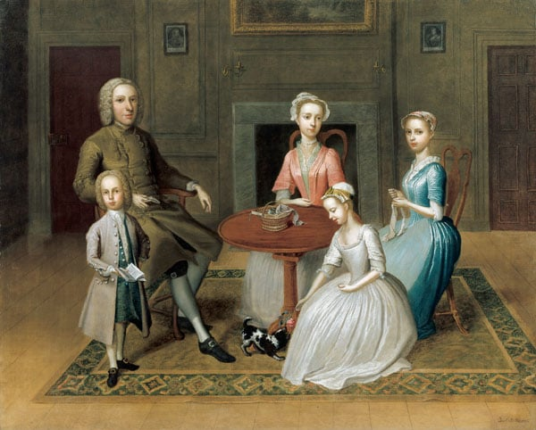 Group Portrait of the Brewster Family