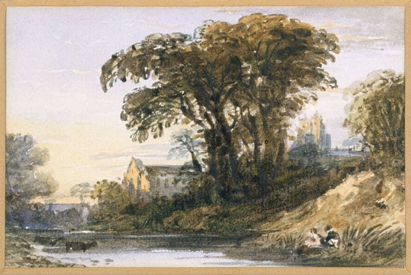 1) Landscape with a Ruined Church; 2) Landscape composition