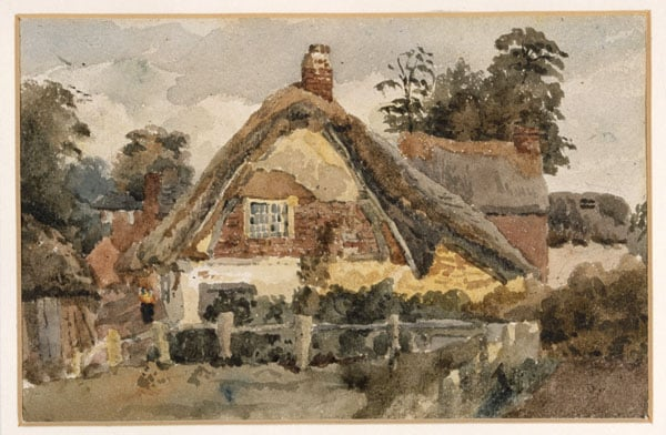 1) Cattle Beneath Trees; 2) Cattle on Bridge over Stream and Cottage in Trees; 3) Untitled (cottage)