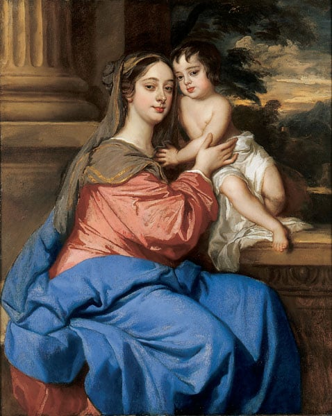Portrait of Barbara Villiers, Duchess of Cleveland, with her son