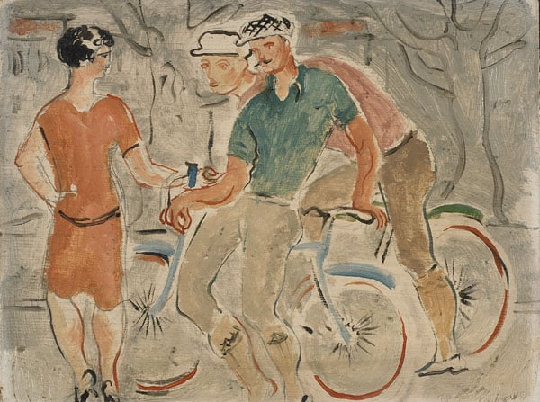 French Cyclists and a Girl
