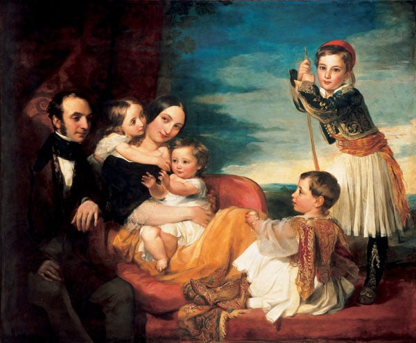 Alexander Constantine Ionides and his Wife Euterpe, with their Children