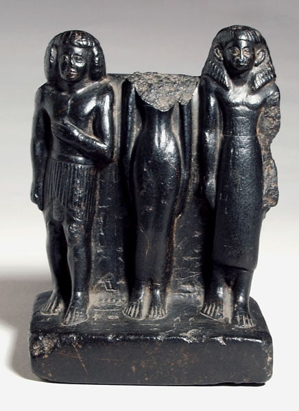 Statue group of three figures