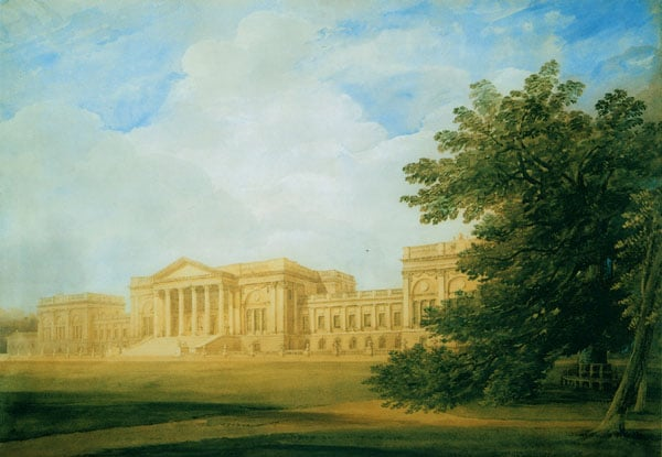 The South Front of Stowe House, Buckinghamshire
