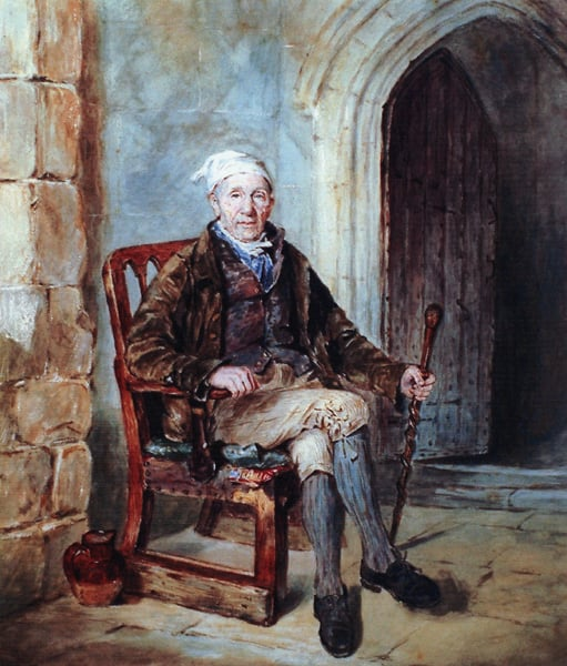 A Study from Nature, of an Old Man who sailed with Captain Cook on his First Voyage