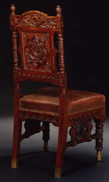 Four dining chairs from the Durbar Room, Osborne House
