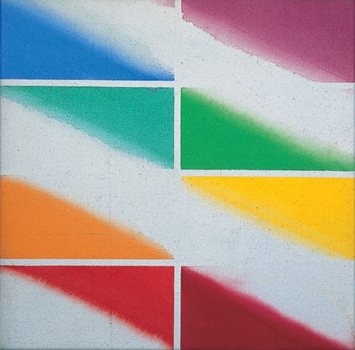 1-4) Post-Warhol Souvenir: Marilyn; 5) Jamestown Green and Red; 6) Cambridge Red and Green; 7) Study for Cambridge Eight