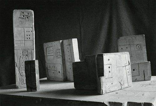 1) Oscar Wilde; 2) Project for Monument; 3) Maquette for the Unknown Political Prisoner; 4) Contemplative Object (Sculpture and Relief)