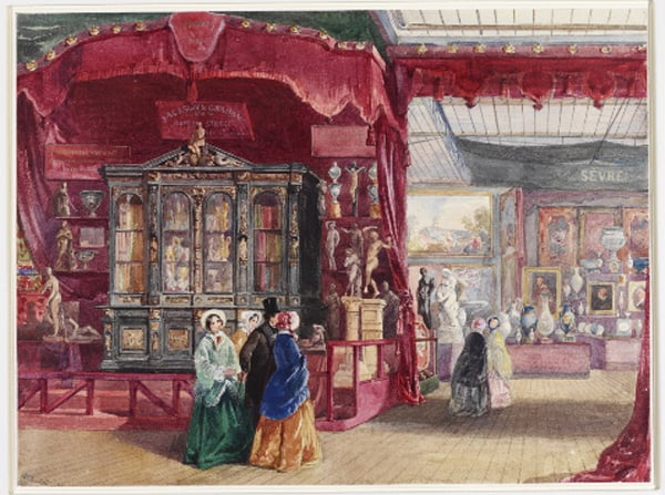 Group of watercolours of the Great Exhibition, 1851