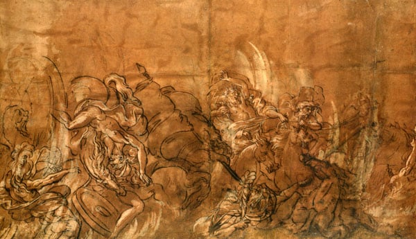 Study for Pharaoh and His Host Lost in the Red Sea