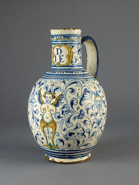 Jug with grotesque decoration