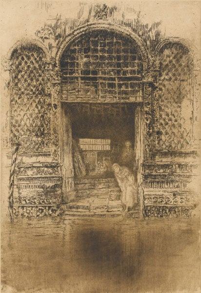The Doorway & The Beggars from Mr Whistler's Etchings of Venice