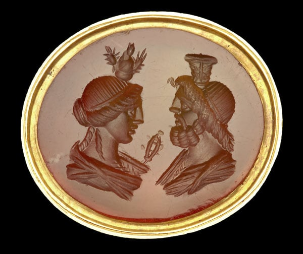 Intaglio of Isis and Serapis
