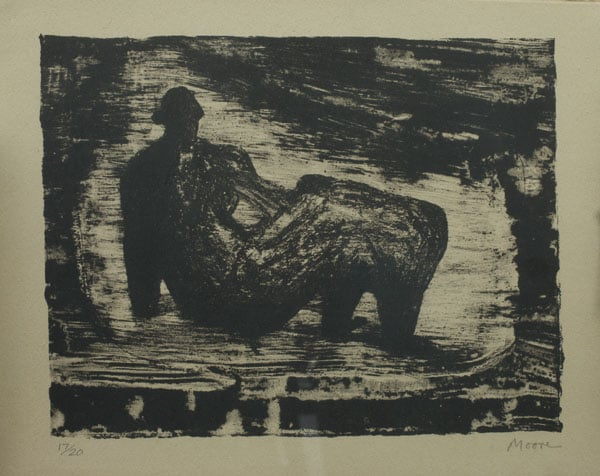 1) Black Reclining Figure; 2) The Infant; 3) Girl at desk; 4) The three Marys