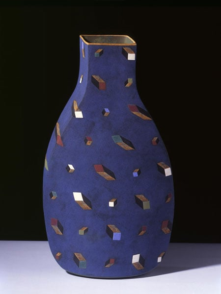 1) Blown-away Vase, Over the Edge, Firework XII, 2008; 2) Vase: Water of Greenness, 2008
