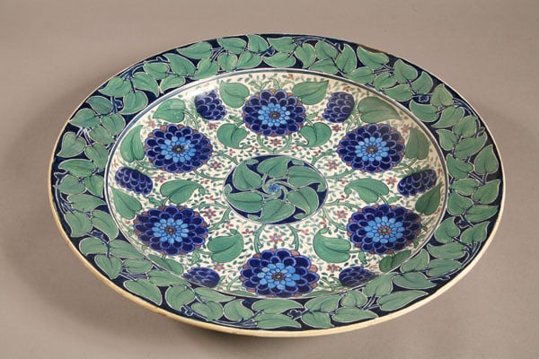 Collection of ceramics, watercolours, metalwork and reliefs