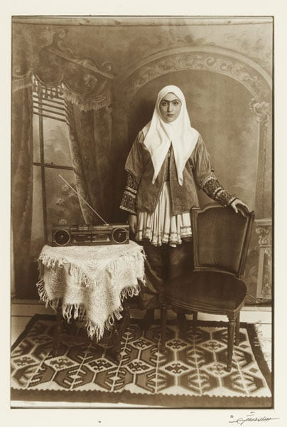 1) Basket with Beer Cans; 2) Table with Stereo from the series 'Qajar' (Art Fund Collection of Middle Eastern Photography)