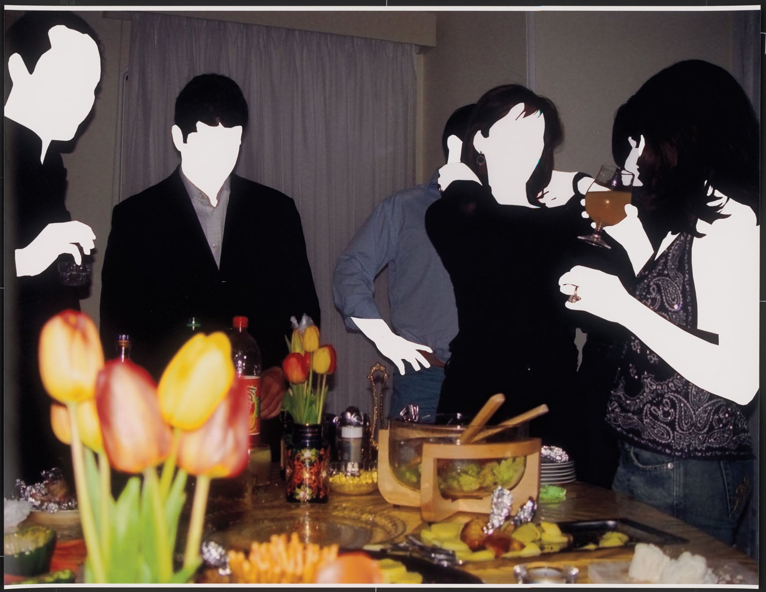 Table with food from 'Party' series (Art Fund Collection of Middle Eastern Photography)