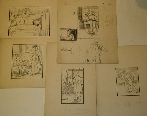 28 Studies for 'The Elves and the Shoemaker'