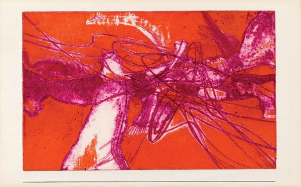 1) Greeting Card for New Year; 2) Untitled (poster for Atelier 17 exhibition at the ICA)